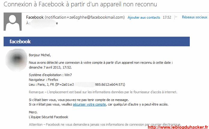 comment pirater un compte facebok avec un Appareil inconnu