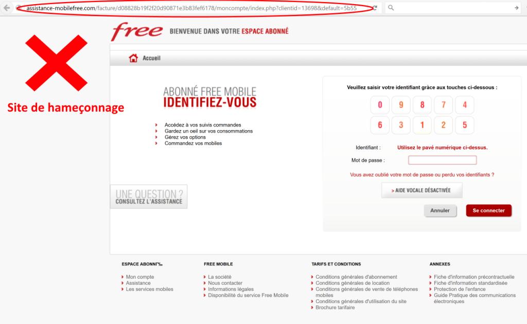 phishing free mobile