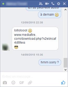 vers informatiques sur Facebook