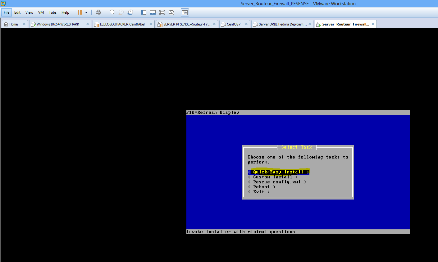 Capture Valider installation rapide Quick Easy Intall