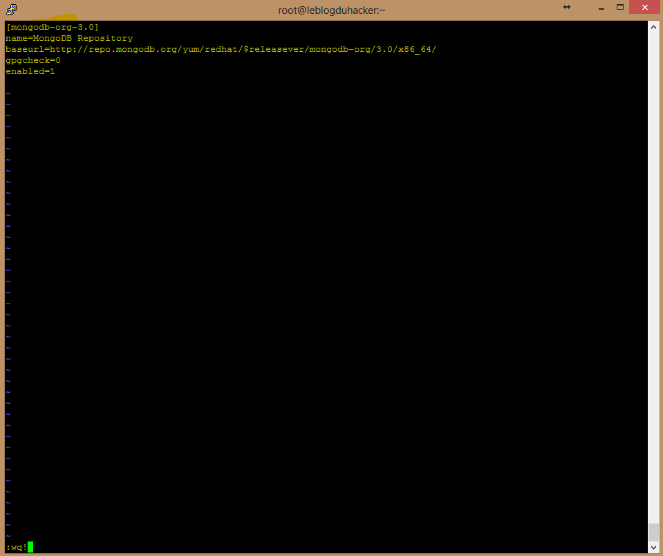 Installation 27 création du fichier de dépôt MongoDB au début avant installa JAva