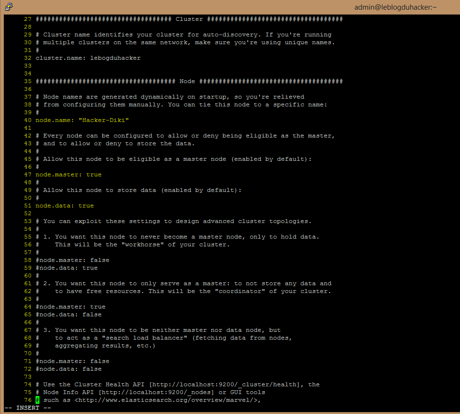 Installation 44 Fichier Elasticsearch.yml rectifié1