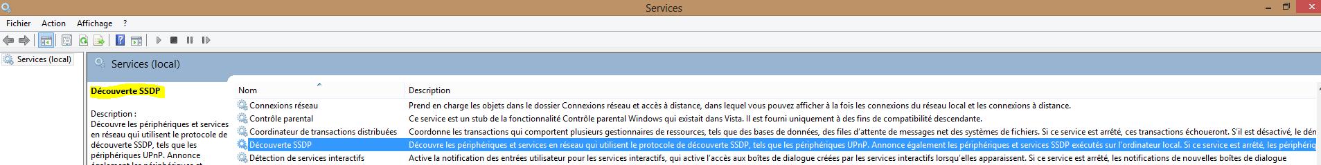 Image 18 arrêt et désactivation service SSDP