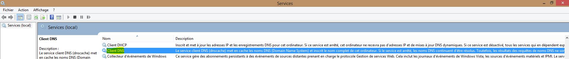 Image 22 Arrêt service Client DNS