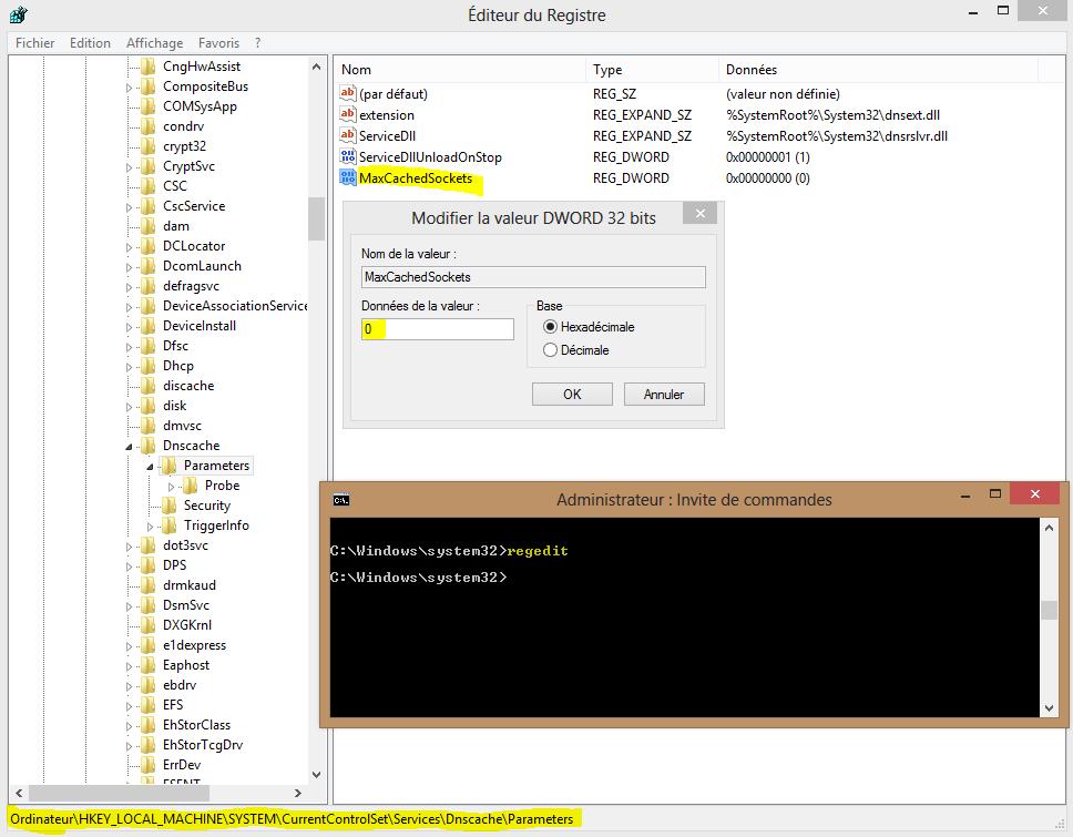 Image 23 regedit DNS Cache