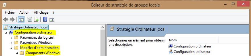 Image 34 chemin pour la désactivation Windows Defender