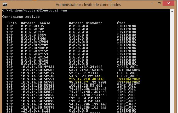 Image 41 netstat via navigation Tor