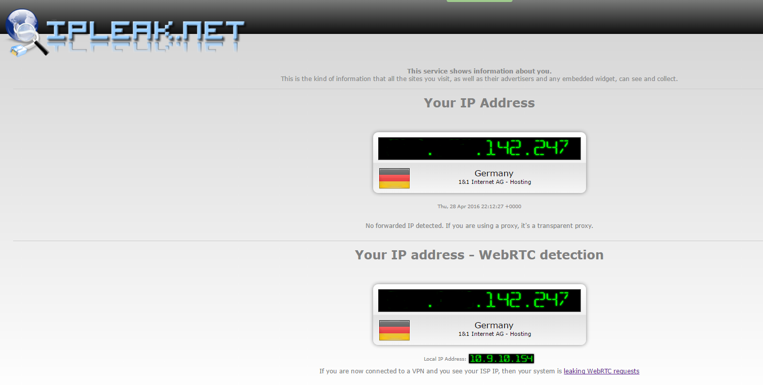 Image 42 attaque WebRTC non protégée via VPN