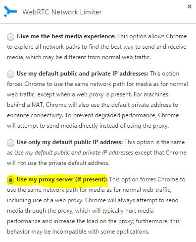 Image 43 Extension WebRTC Network Limiter Google Chrome