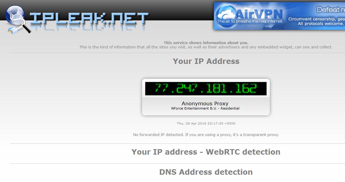 Image 44 détection attaques WebRTC et DNS via TOR