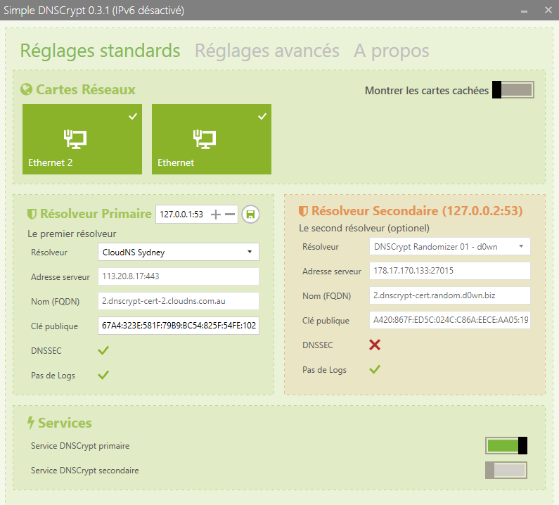 Image 45 authentification et encryptage DNS DNSCrypt