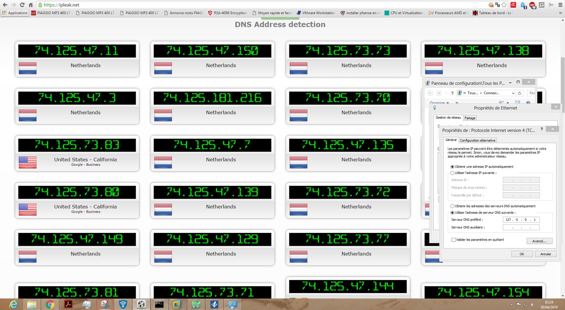 Image 48 vérification IPLEAK fuites DNS du serveur VPN