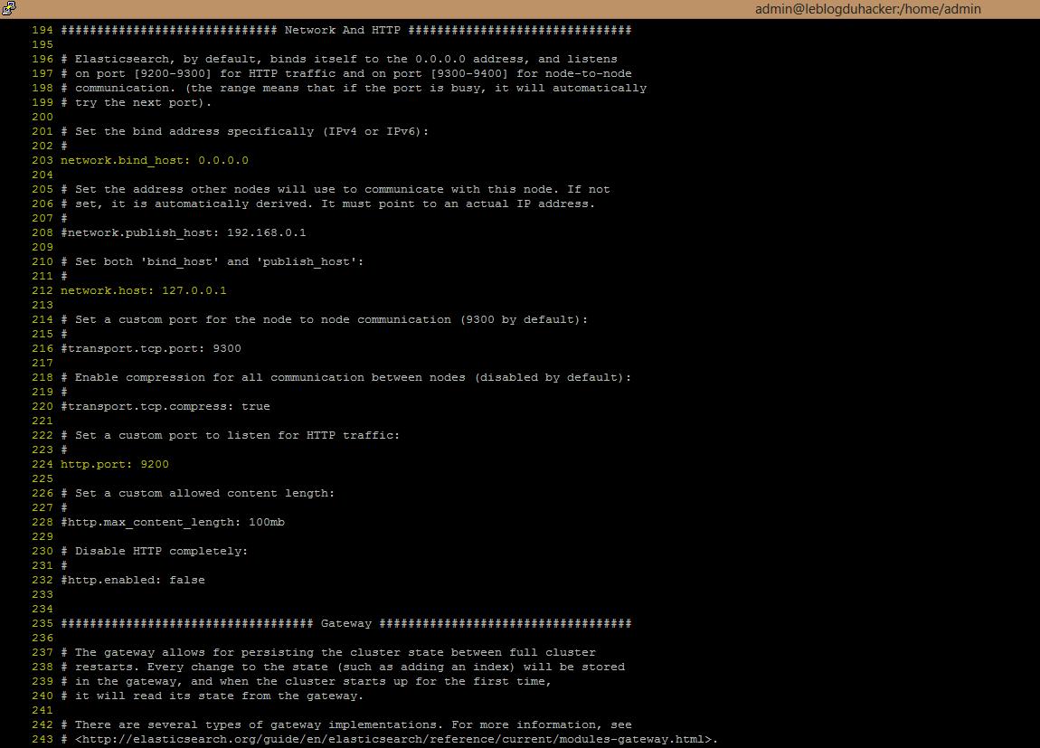 Installation 45 Fichier Elasticsearch.yml rectifié08.0.2016