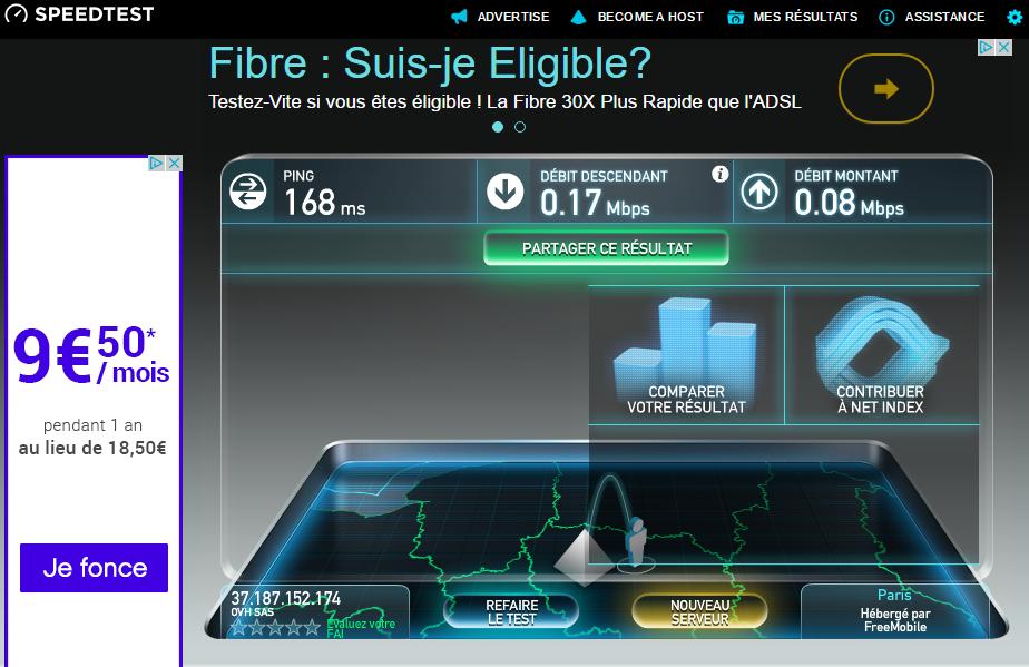 image 18.1 test débit VPN FRANCE