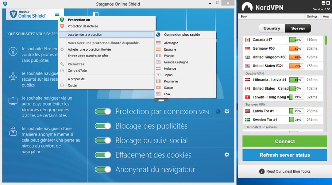 image 31 console admin server dispo NordVPN et Steganos