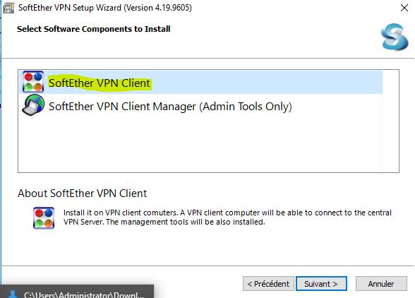 image 4 exécution du fichier install vpngate 2