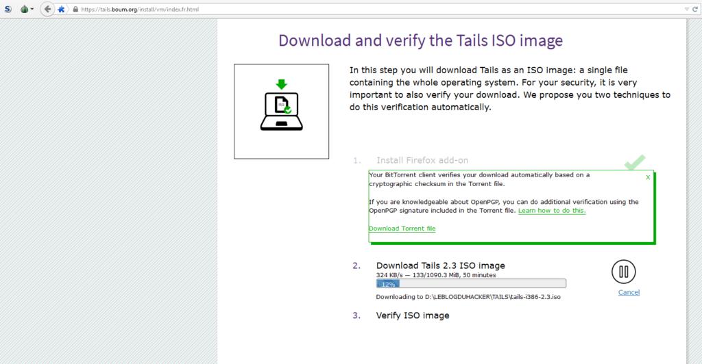 Image 1 téléchargement ISO TAILS