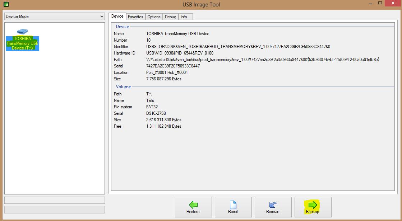 Image 32 Création image clé USB Bootable Tails après install définitive 2.4