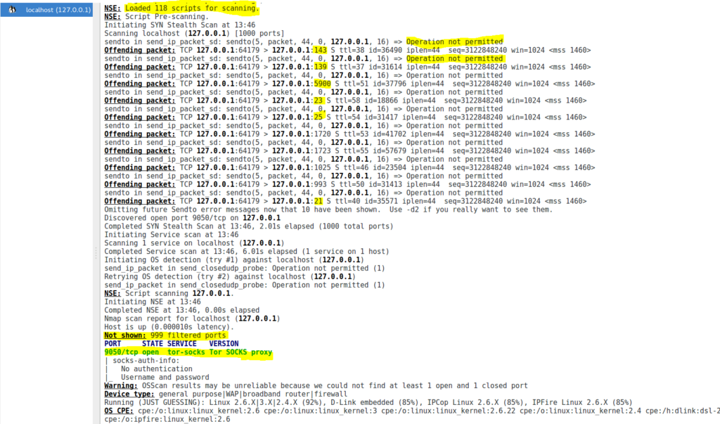 Image 41 1 zenmap sur machine hôte 192.168.1.31 DNS et port 514 TCP filtrés sur Tails