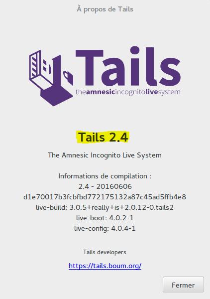 Image 52 1 Mise à jour automatique Tails 2.4 new compilation