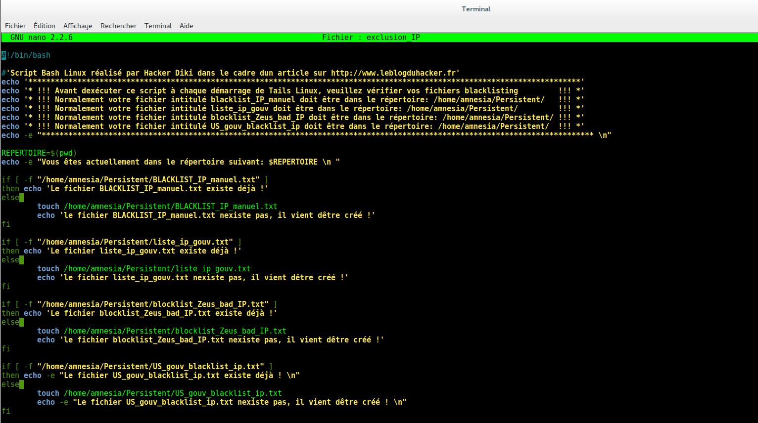 Image 57 Script exclusion blacklist IP 1111 ok