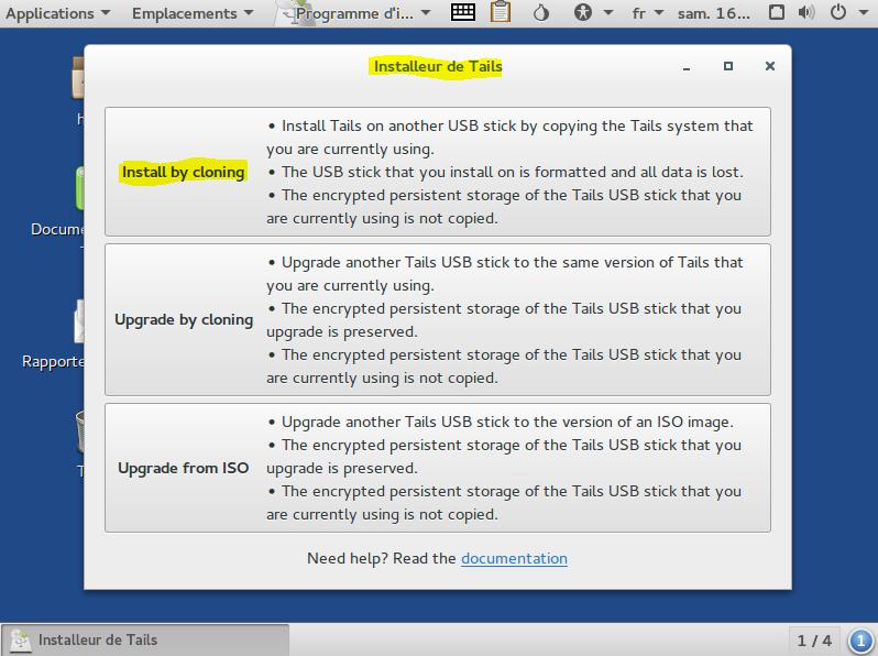 Image 9 installation par clonage sur clé USB TAILS