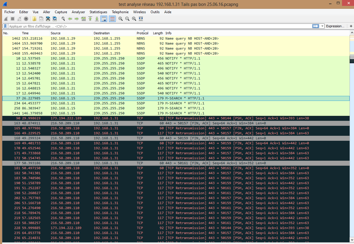 Screenshot Bug faille de sécurité SSDP UPnP entre machine hôte et VM Tails 2.4