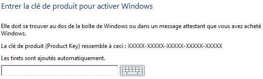 installer windows 10 avec la clé de licence