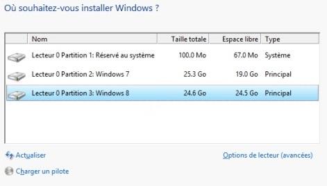 ou souhaitez vous installer windows