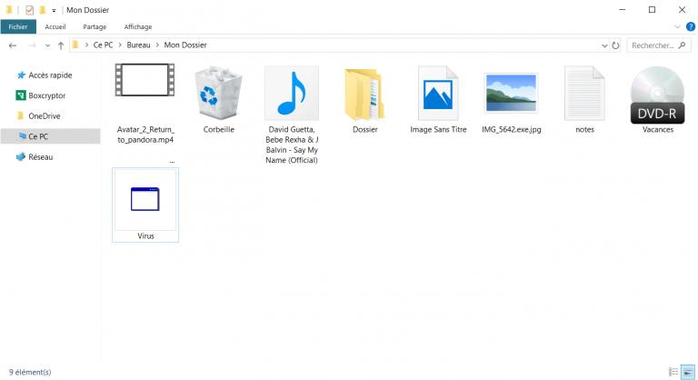 cacher un virus dans une image, exemples