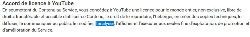 youtube nous écoute